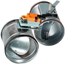 Воздушные клапаны круглого сечения с электроприводом