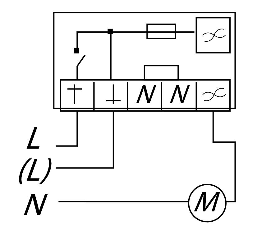 Электрическая схема подключения регулятора скорости СРМ 1,5А 500 W